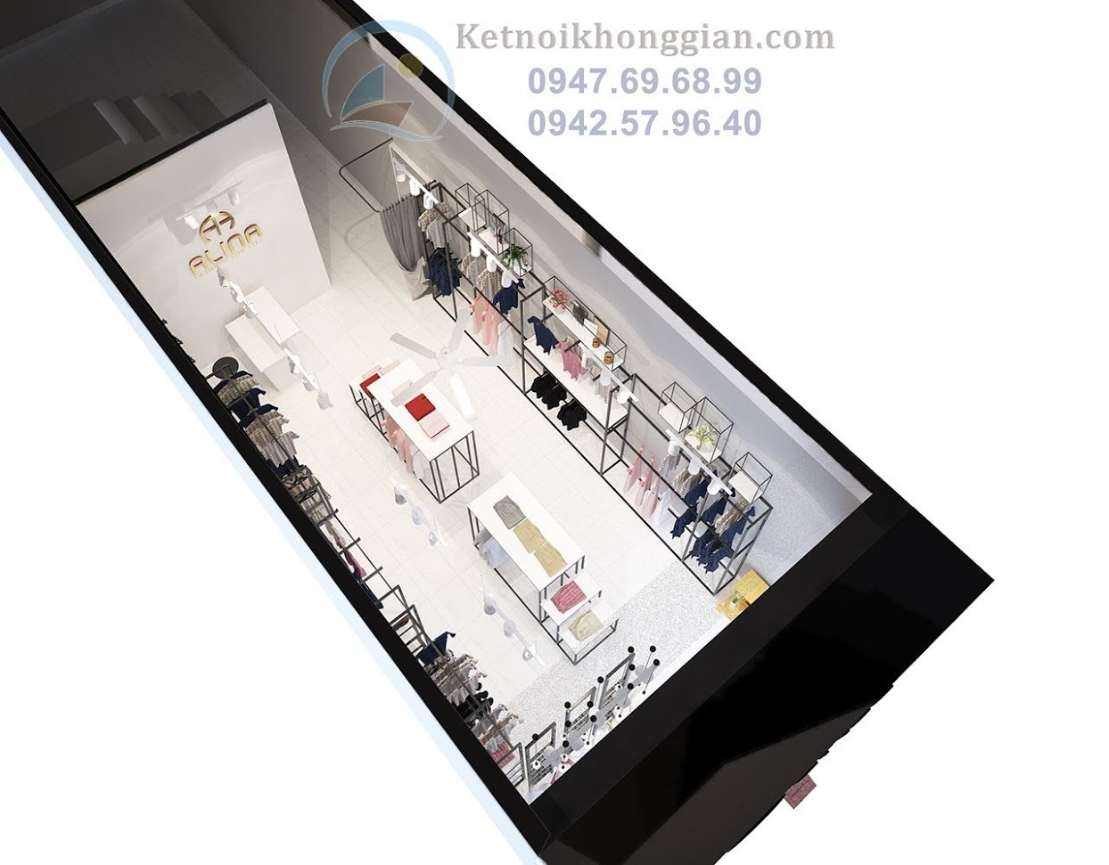 thiết kế shop thời trang công sở đẹp
