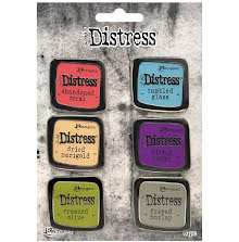Tim Holtz Distress Enamel Collector Pin Set 6/Pkg - Set 3