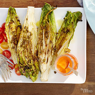 Grilled Romaine Salad with Piquillo Pepper Dressing