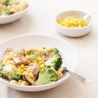 Creamy Chicken, Broccoli and Sweetcorn Pasta Recipe