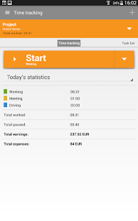 Mobile Worker - Time tracker Screenshot