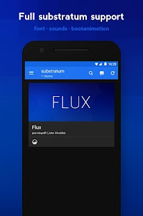 Flux - Substratum Theme Screenshot