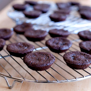 Mini Chocolate Hazelnut Cakes with Sea Salt.