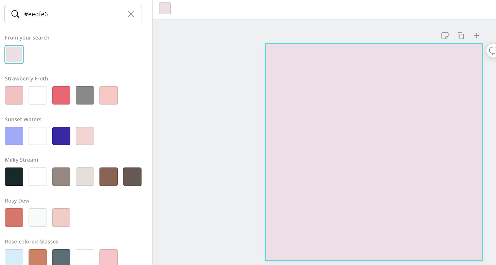 Changing colour backgrounds in Canva