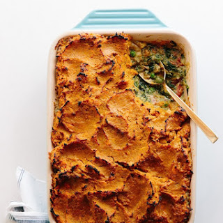 Deep-Dish Shepherd's Pie with Sweet Potato and Chicken Curry
