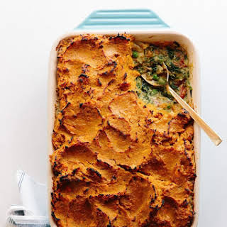 Deep-Dish Shepherd's Pie with Sweet Potato and Chicken Curry.
