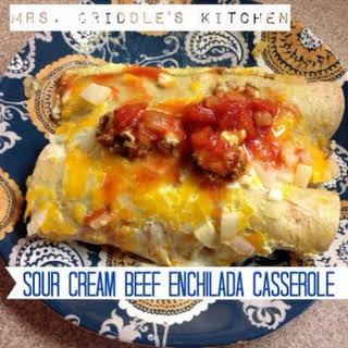 Sour Cream Beef Enchiladas.