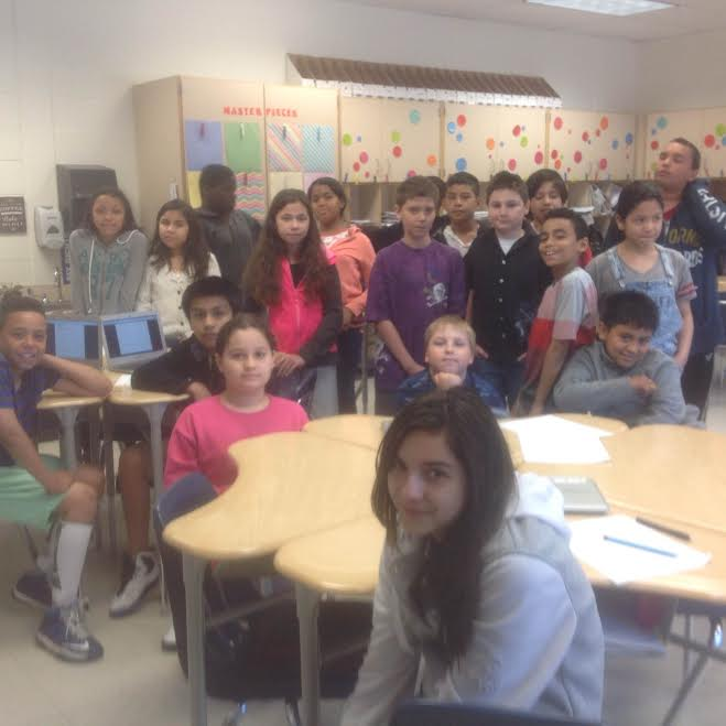 Students in Lori Lawrence's 5th grade blended classroom in Middletown NY.