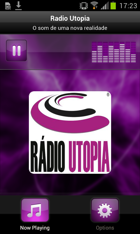 Radio Utopia– captura de ecrã
