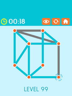 Follow the Line Connect Dots: One Touch Puzzle- screenshot thumbnail