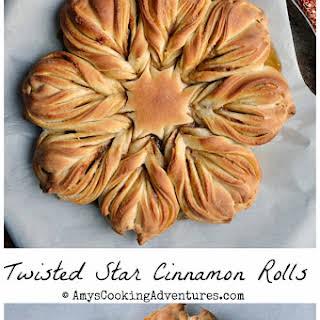 Twisted Star Cinnamon Rolls.