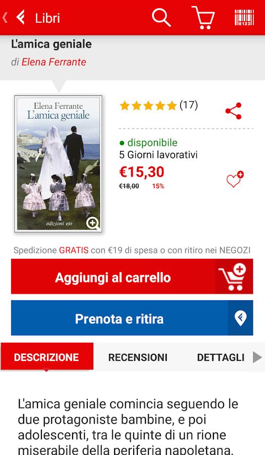 la Feltrinelli mobile- screenshot