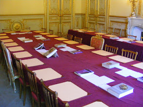 Photo: The Salon des Jeux (Game Room) appears to have been converted into a conference room.