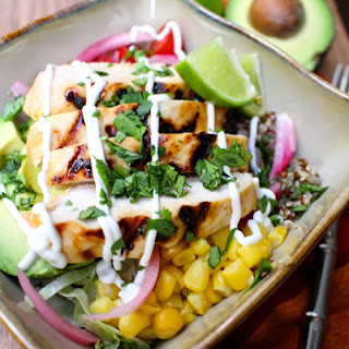 Miami Chicken Burrito Bowl with Cilantro Lime Quinoa