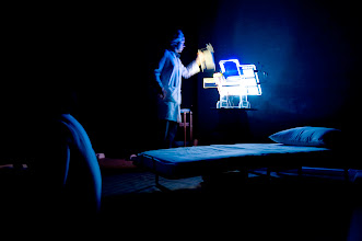 Photo: Production photos from 2010 production of Anaphylaxis at the IRT Theater. Photo credit: Maggie Soladay