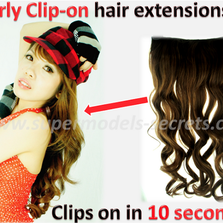 Instant Sexy Curls - Clip-on Curly Long Hair Extensions (Nylon) by Supermodels Secrets