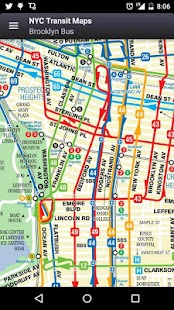 New York Subway Map Bus LIRR Metro North MTA Android Apps - Bus map brooklyn