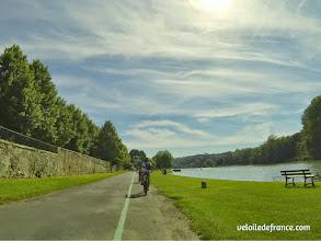 Photo: Plage de Héricy - E-guide balade circuit à vélo sur les Bords de Seine à Bois le Roi par veloiledefrance.com.
