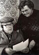 Photo: Diny Vedder-Bruins en haar vader Egbert Bruins