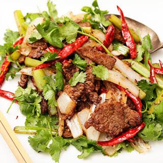 Mongolian Stir-Fried Lamb with Cumin.