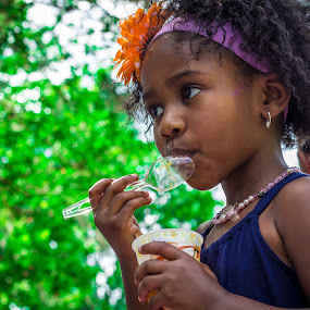 Ice Cream by Malik Marcell - Babies & Children Children Candids ( chloe, ice cream, children, candid, flower )