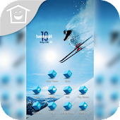 Skier Jump Sport Upon Theme