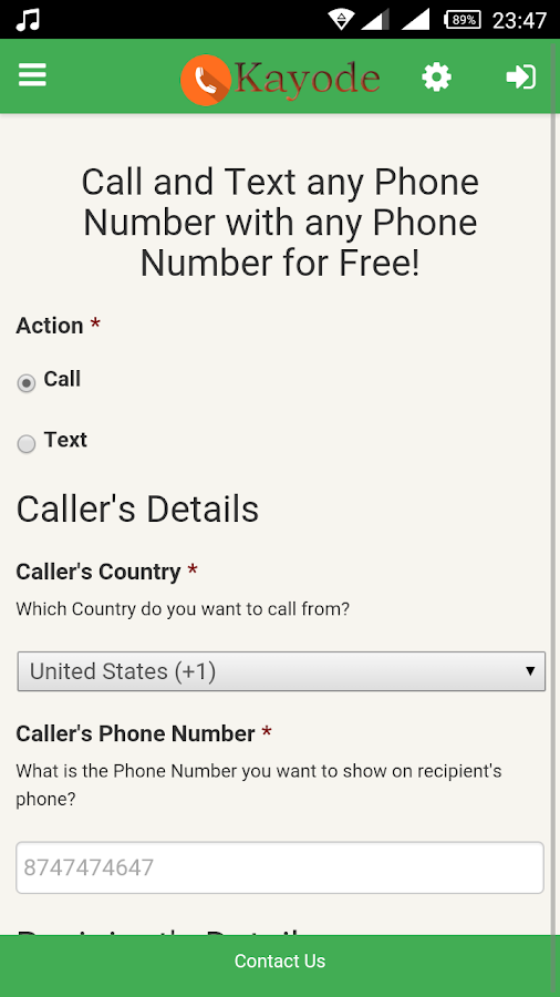 Kayode Call and Text for Free- screenshot