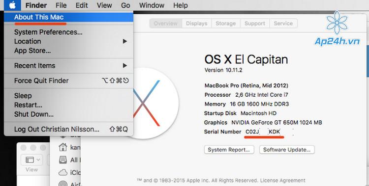 Kiem tra tuoi may truoc khi mua MacBook cu