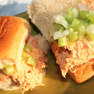 Creamy Buffalo Chicken Sliders with Pickled Celery Relish
