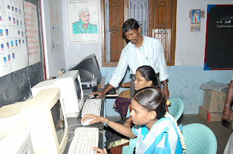 Photo: Our vounteer(standing) assisting our women trainees at CTC