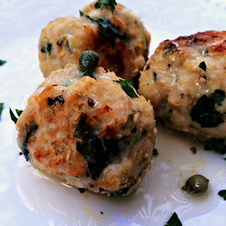 Greek Style Turkey Meatballs With Lemon Sauce