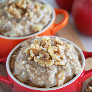 Apple, Maple and Pecan (or Walnut) Oatmeal