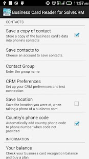Free Business Card Reader for Solve CRM- screenshot thumbnail