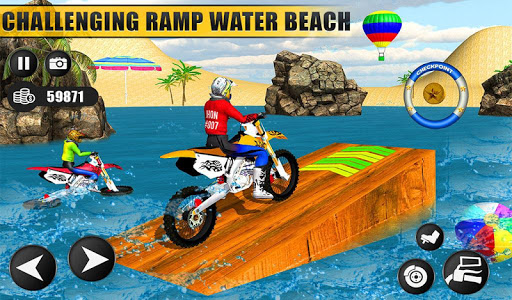 Beach Water Surfer Dirt Bike: Xtreme Racing Games apkdebit screenshots 13