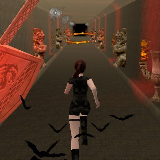 Girl in temple. Endless run.