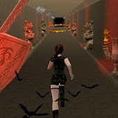 Girl in temple. Endless run.