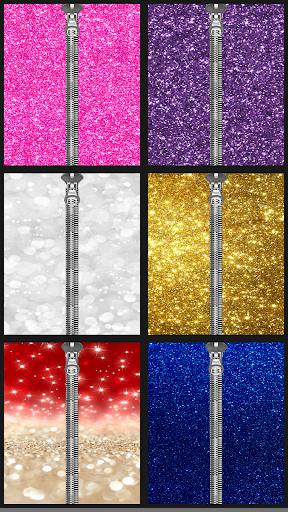 Glitter Zipper LockScreen