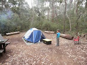 Photo: Friday night camp at Sues Bridge