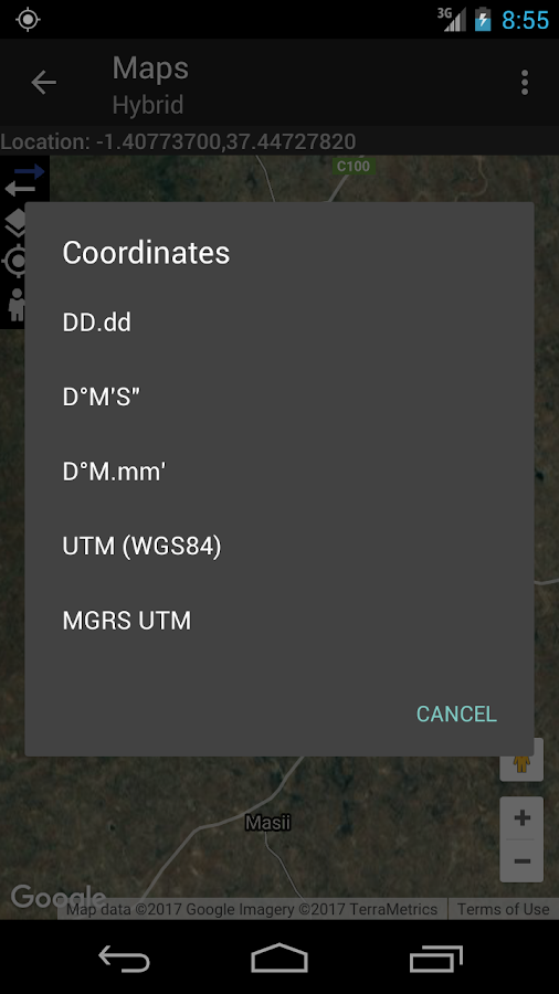 Coordinate Converter+- screenshot