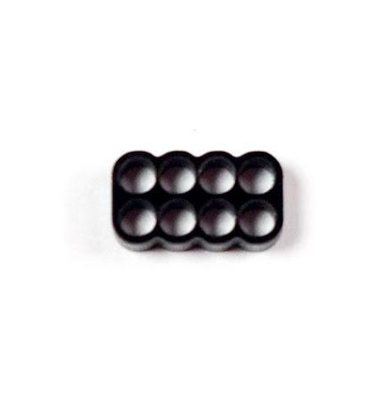 Kabelkam for 8 pins kabel, 2x4 Ø4mm hull, sort