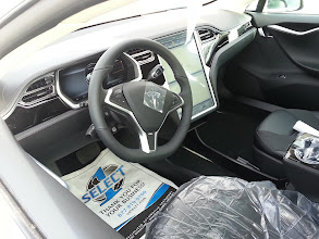 Photo: Inside as delivered, before the anything is removed. The car showed a rated range of 171 miles at delivery.