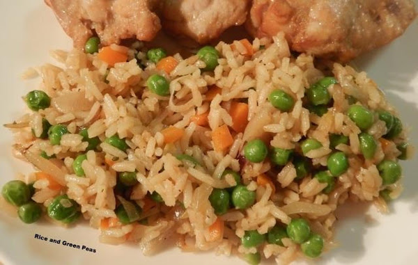 Rice And Green Peas Recipe
