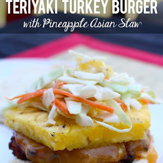Teriyaki Turkey Burgers with Pineapple Asian Slaw