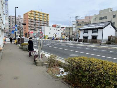 材木町南口バス停(右まわり)