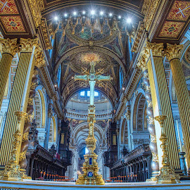 st Paul's cathedral by Gjunior Photographer - Buildings & Architecture Architectural Detail ( cathedral, building, interior, architecture )