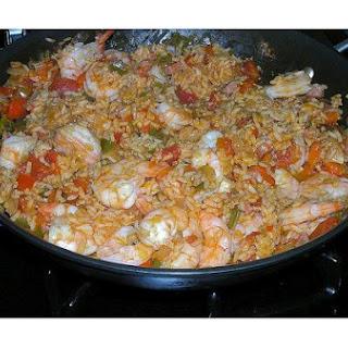 Cajun Ham and Shrimp Jambalaya.
