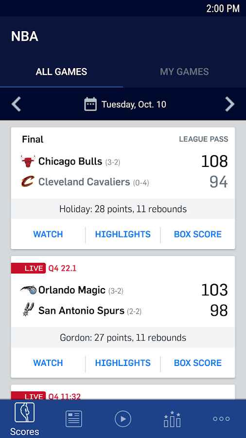 NBA- screenshot