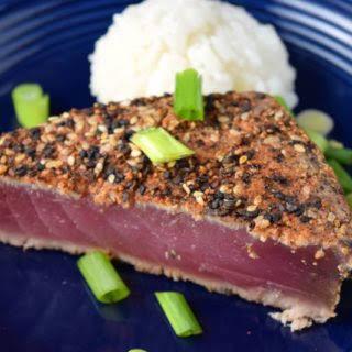 Spicy Rubbed Ahi Tuna Steak.