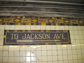 Photo: Subway sign done in tile, like they all are