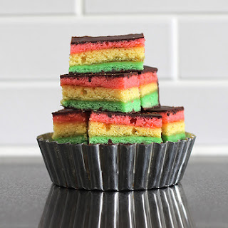 Seven Layer Cookies (aka Rainbow Cookies)